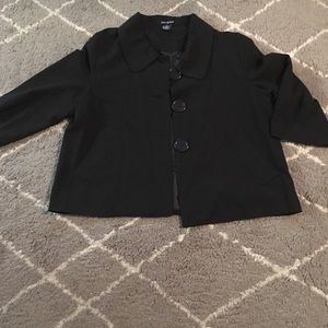 Ava & Grace Black Short Lined Jacket. Med